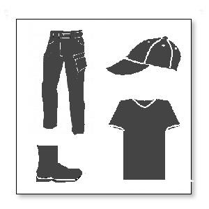 Odzież i obuwie do wykrywania metalu