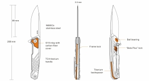 Nóż Ruike składany M875-TZ