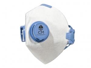 Maska antysmogowa CityMask biało-niebieska z węglem aktywnym