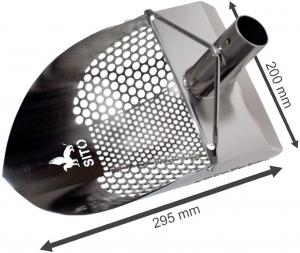 Sito SANDSCOOP z trzonkiem do poszukiwań w wodzie rozm. L / V20 / MIX OSTRE