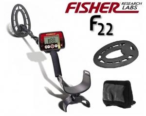 Wykrywacz metali Fisher F22 9'' ZESTAW Z OSŁONAMI
