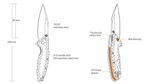 Nóż Ruike P843-W