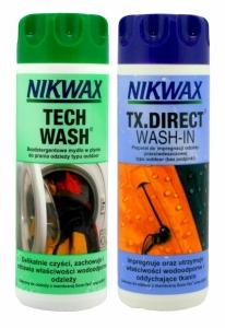 Nikwax NI-32 zestaw Tech wash + Tx Direct Wash 300 ml