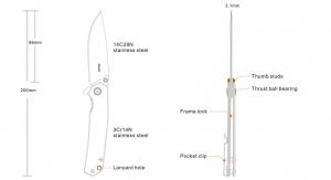 Nóż Ruike składany P801-SB