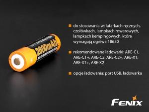 Akumulator Fenix USB ARB-L18U (18650 2600 mAh 3,6V