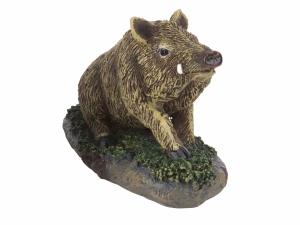 Figurka Dzik siedzący Nature De Brenne 10 cm z tworzywa sztucznego