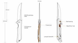 Nóż Ruike składany M121-TZ