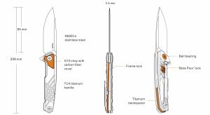 Nóż Ruike składany M108-TZ