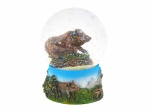 Kula brokatowa z dzikami Nature De Brenne 8,5 cm