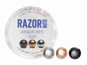 Śrut BBs RazorGun TEST (Black, Silver, Gold) 4,46 mm 3x100 szt.